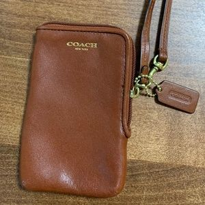Coach Leather Wristlet/Phone Wallet